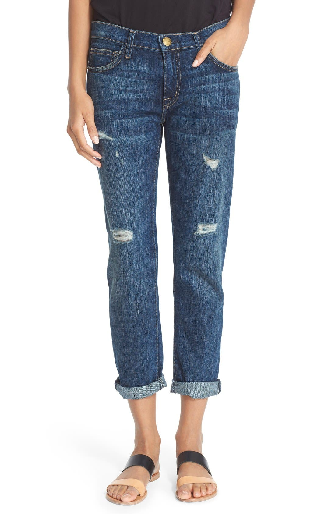 Current/Elliott 'The Fling' Boyfriend Jeans (Loved Destroy)
