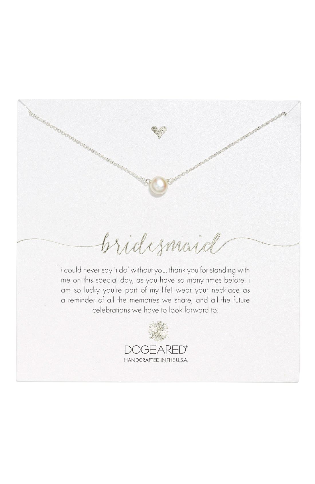 Alternate Image 1 Selected - Dogeared Pearl Pendant Necklace (Nordstrom Exclusive)