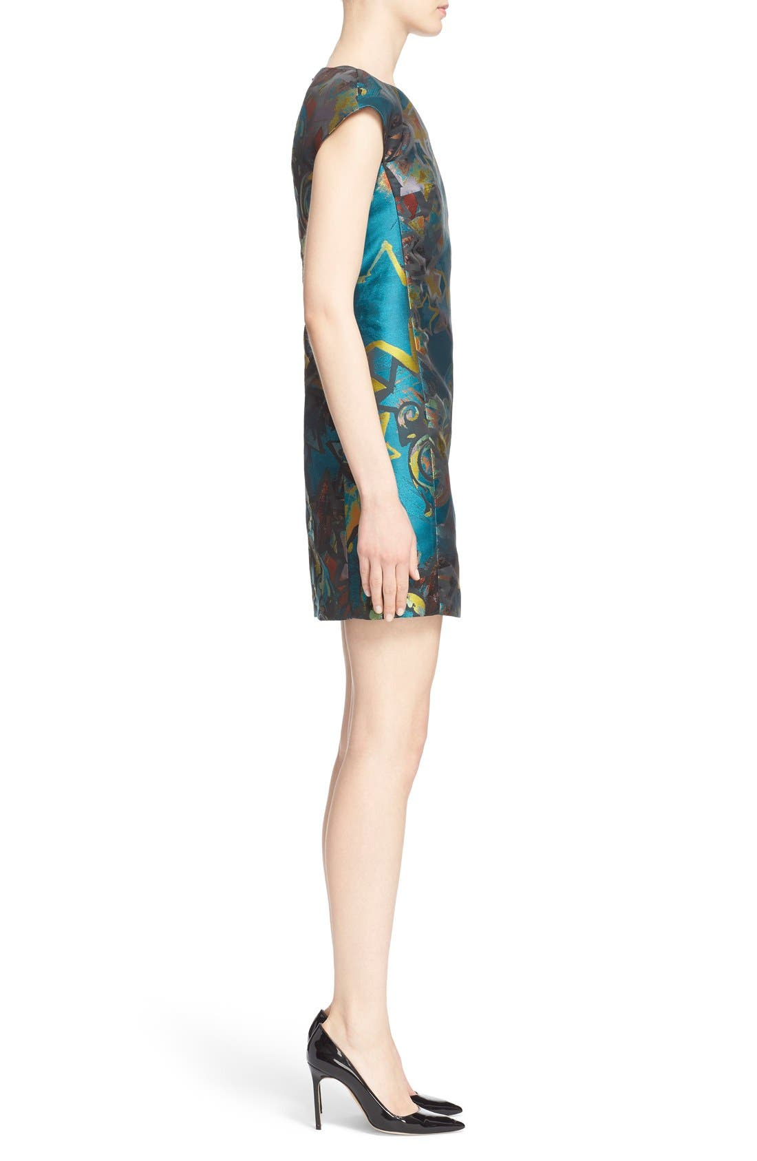 Alternate Image 5  - Versace Collection Jacquard Dress
