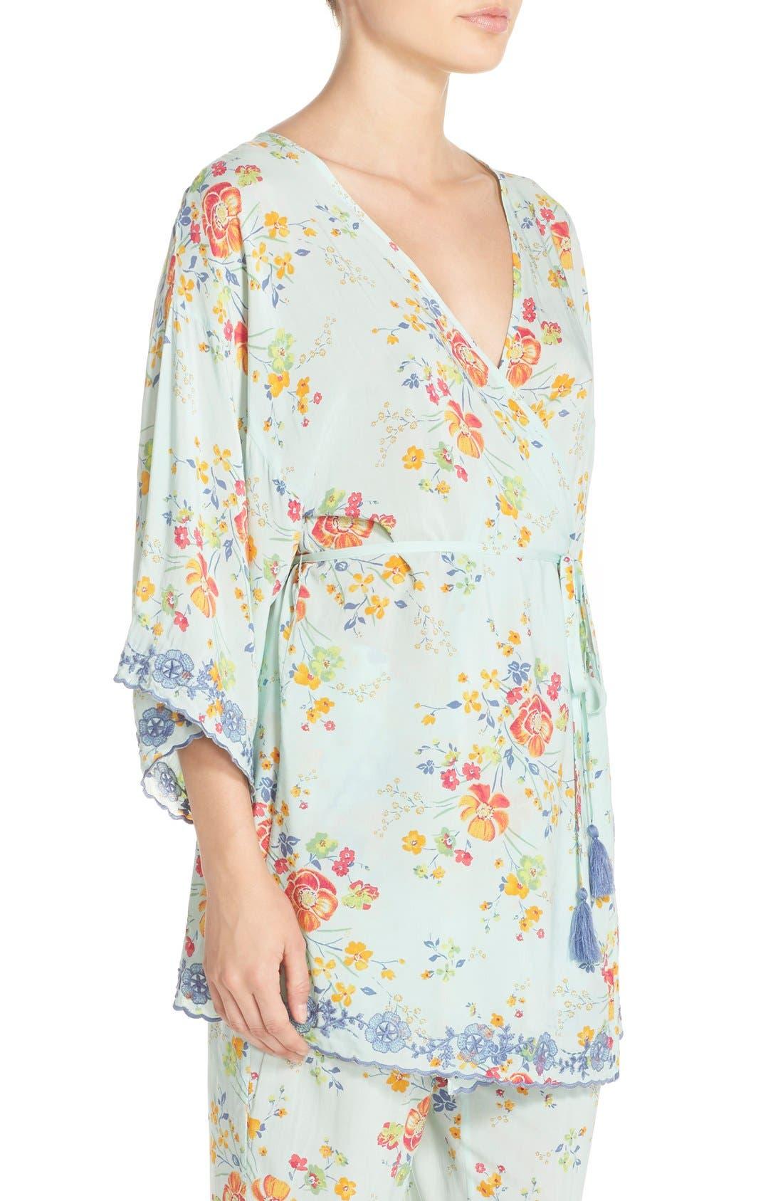Alternate Image 3  - Make + Model 'Summer Daze' Kimono Robe