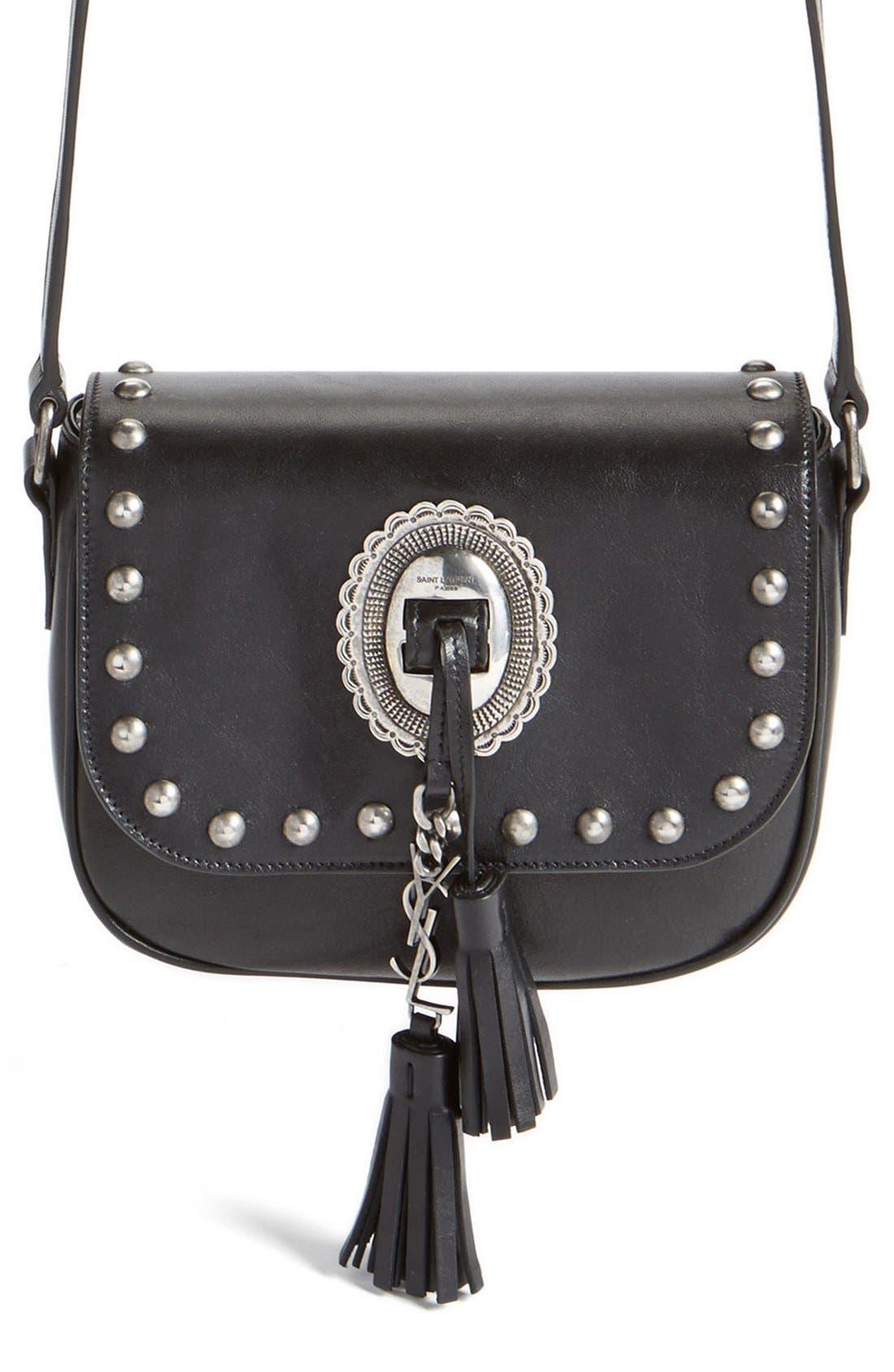 SAINT LAURENT 'Small Kim' Calfskin Crossbody Bag
