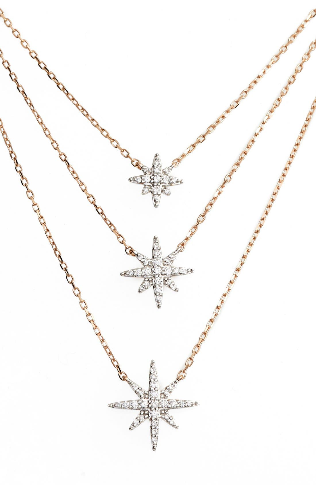 Alternate Image 1 Selected - Bony Levy 'Ella' Diamond Multilayer Star Pendant Necklace (Nordstrom Exclusive)