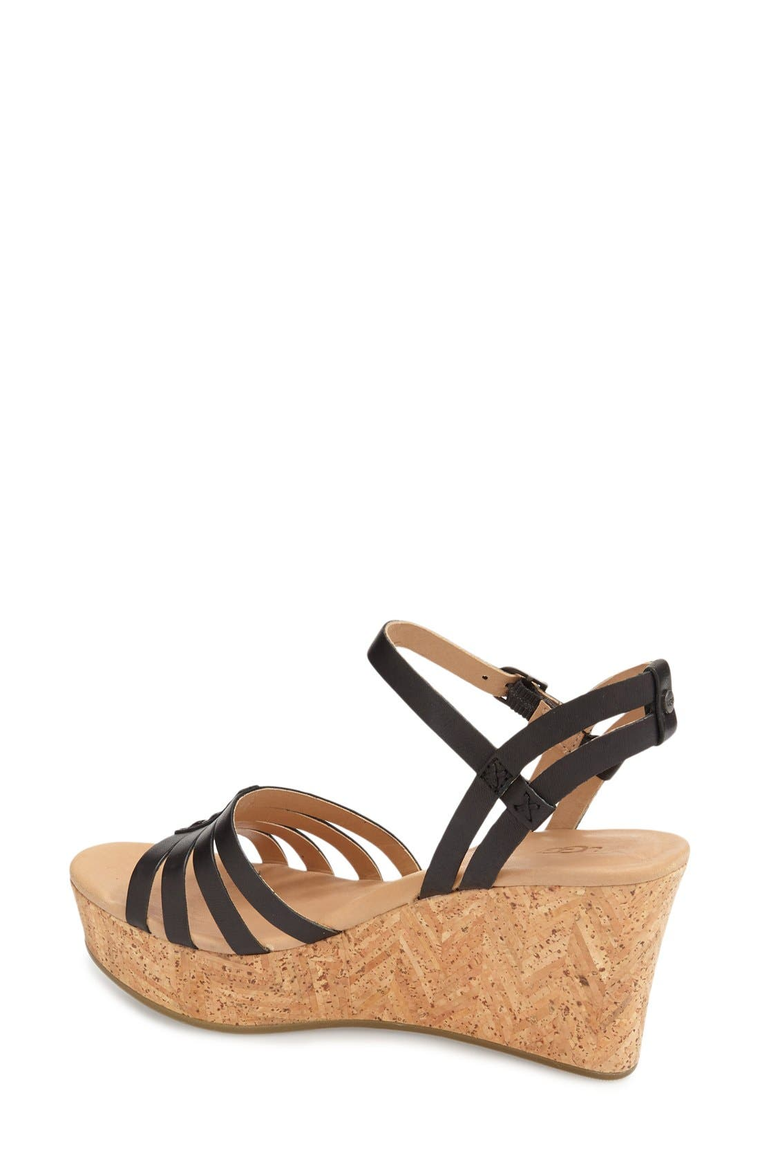 Alternate Image 2  - UGG® 'Brigitte' Wedge Sandal (Women)