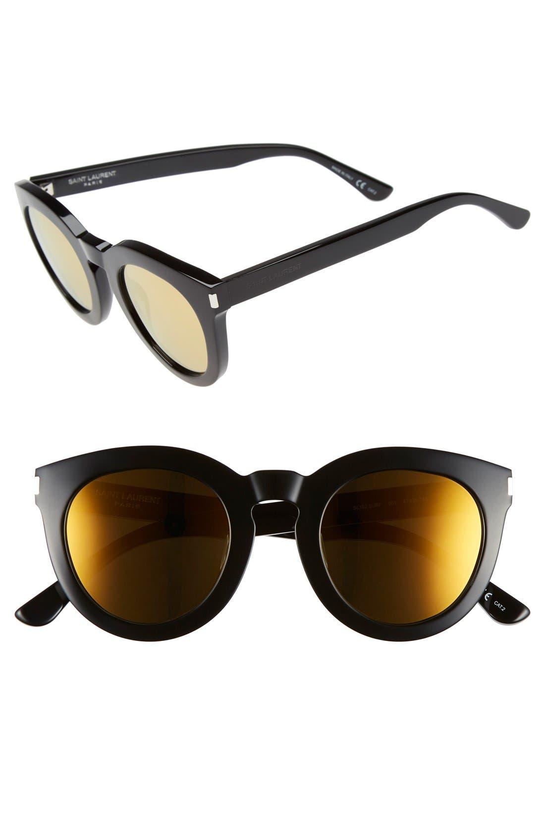 SAINT LAURENT '102 Surf' 47mm Retro Sunglasses