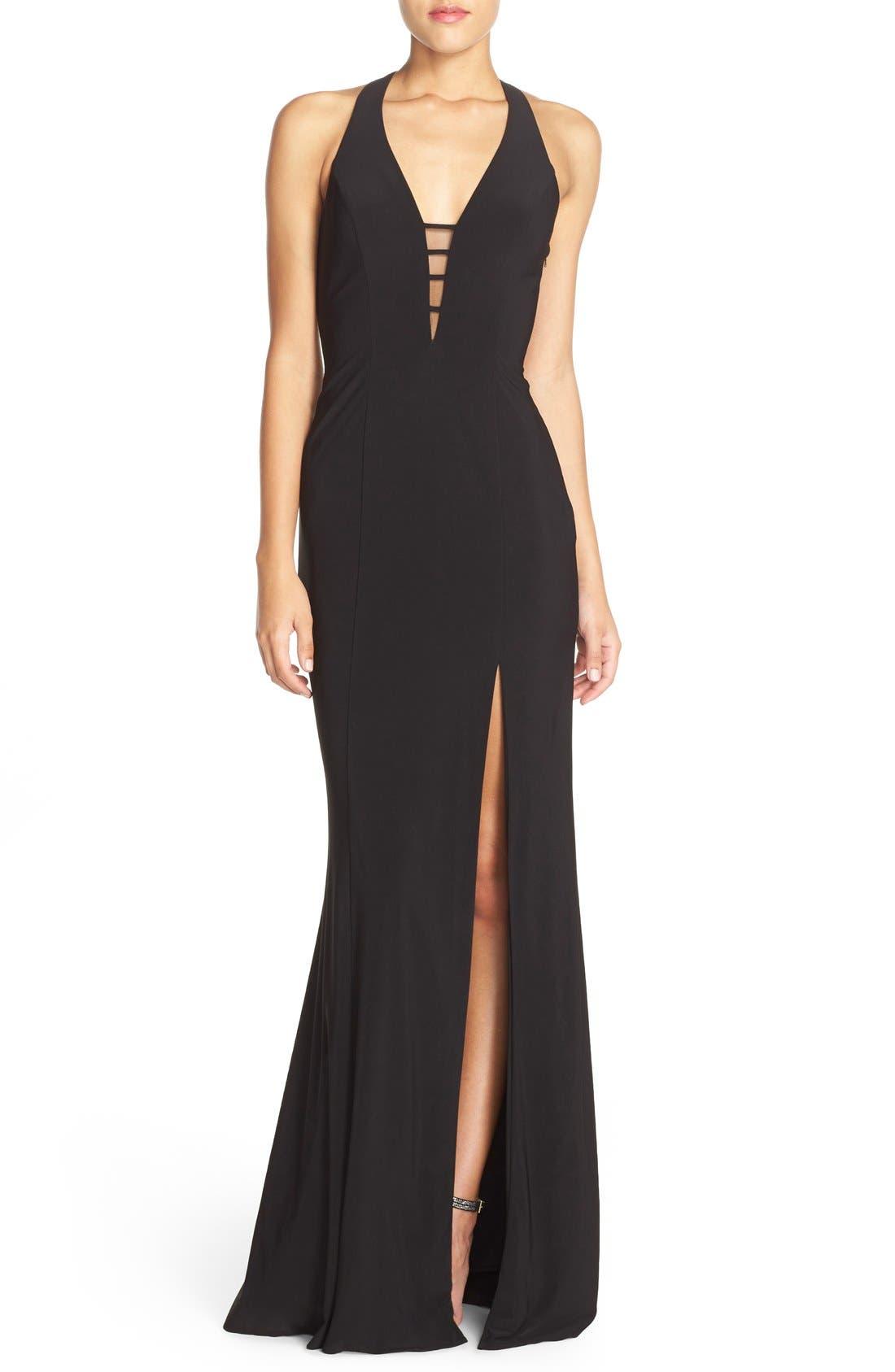 Main Image - Faviana Cutout Jersey Gown
