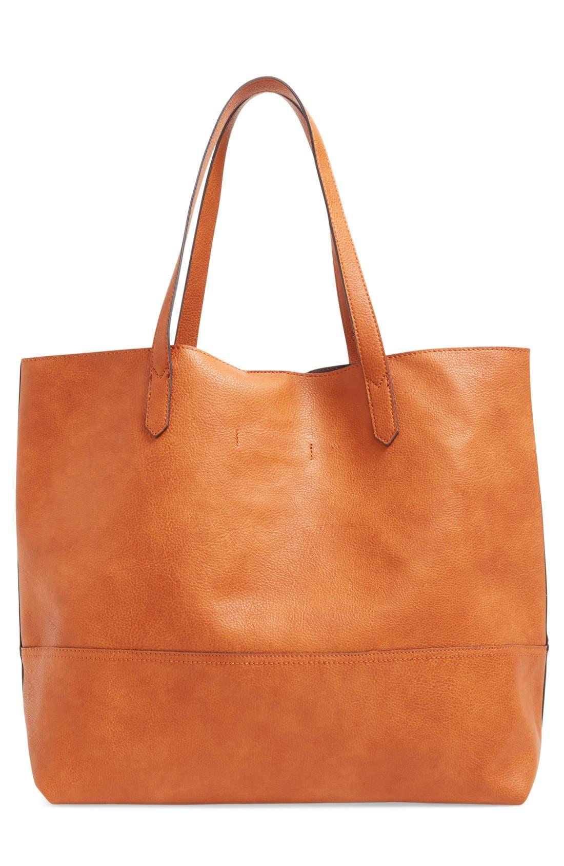 Alternate Image 3  - Sole Society Dawson Oversize Faux Leather Shopper