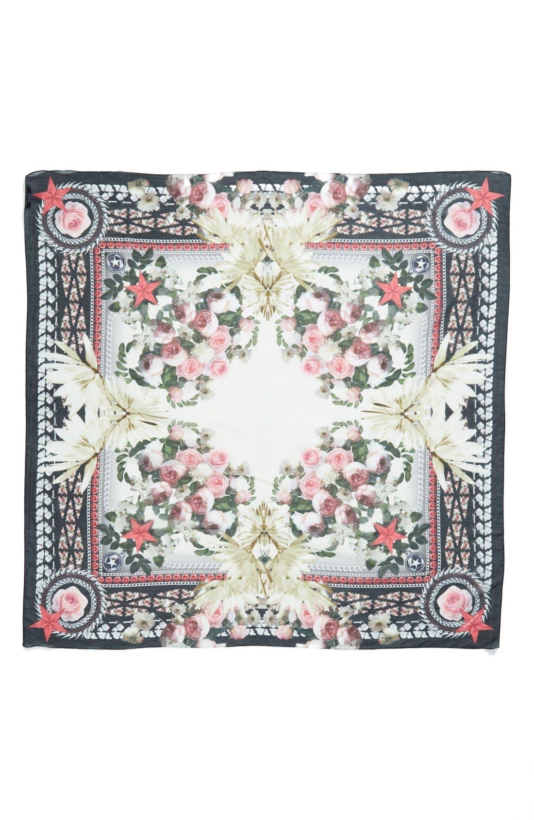 Alternate Image 2  - Givenchy 'Paradise Flower' Print Cotton & Silk Scarf