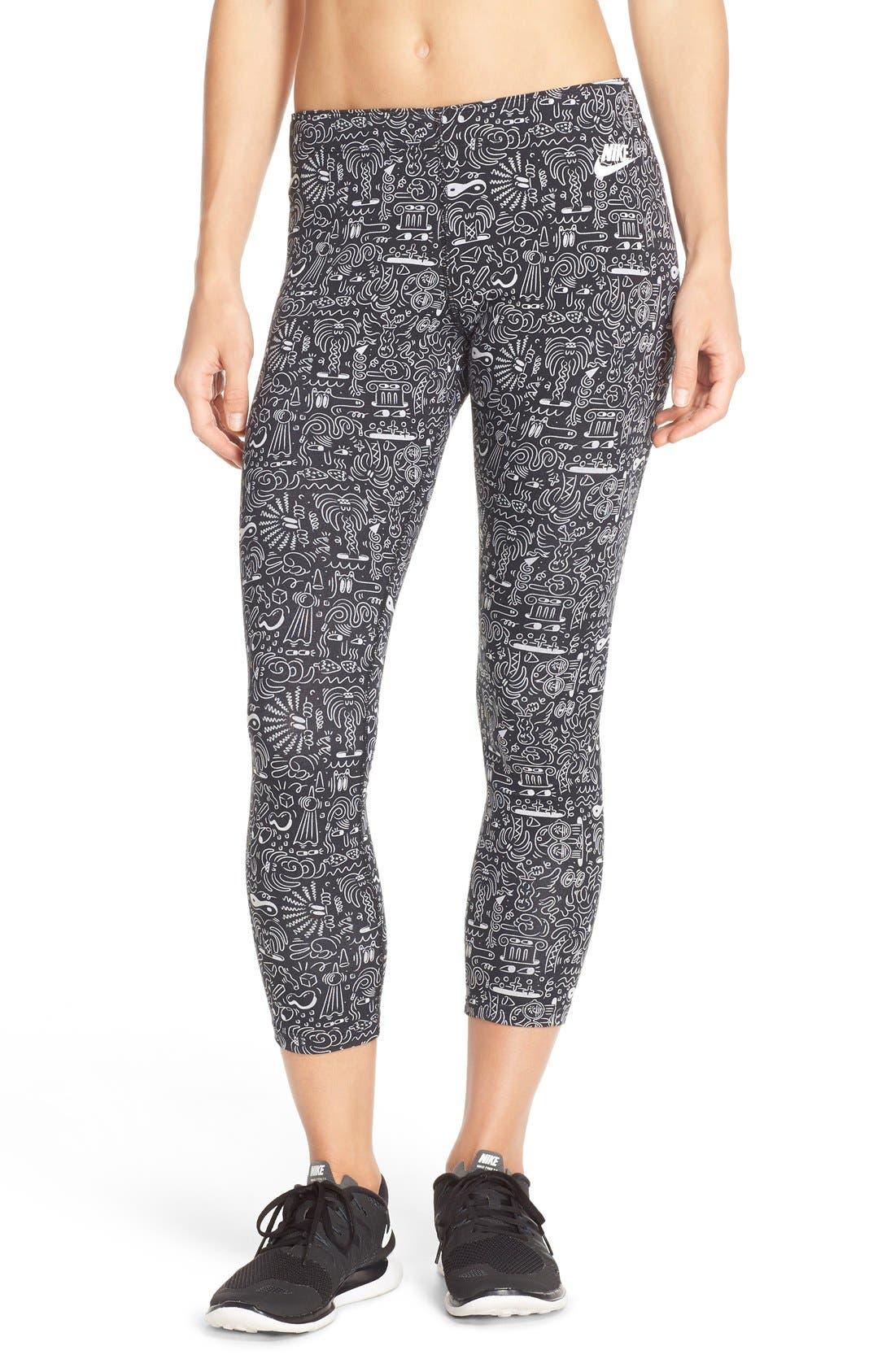 Main Image - Nike 'Leg-A-See' Print Crop Leggings