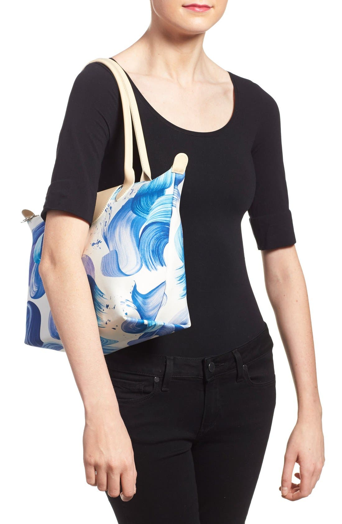 Alternate Image 2  - Longchamp 'Medium Splash' Print Canvas Tote
