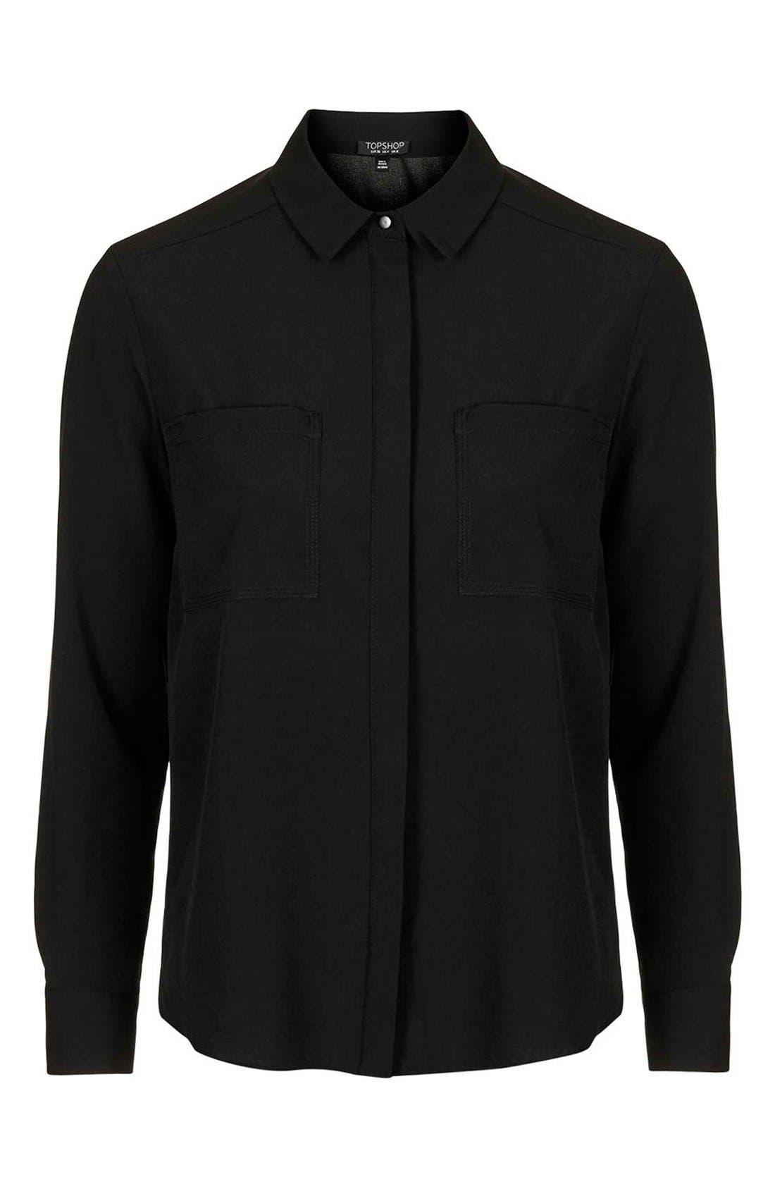 Alternate Image 4  - Topshop 'Sandy Olivia' Button Down Shirt