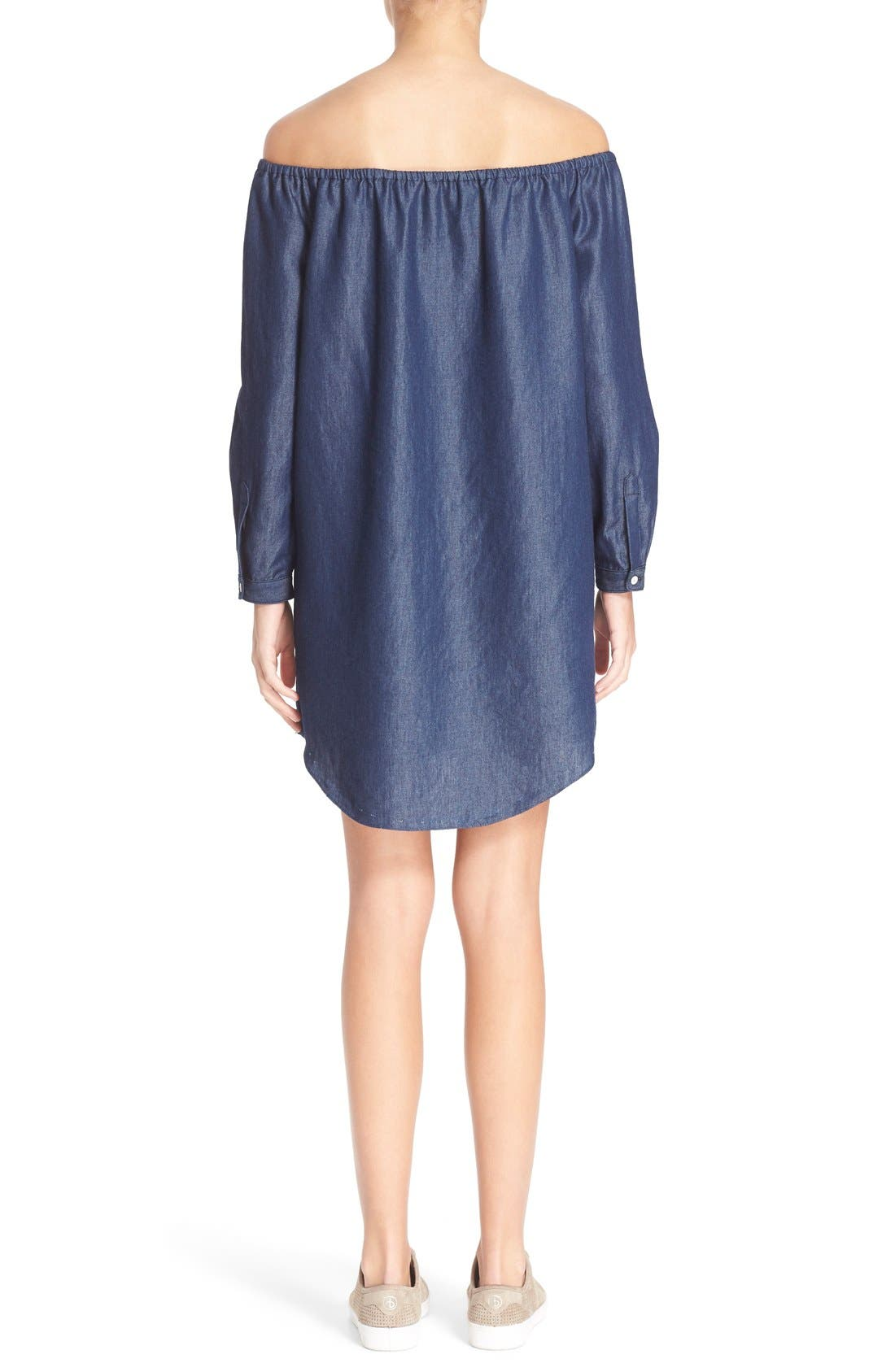 Alternate Image 2  - rag & bone/JEAN Off the Shoulder Shift Dress