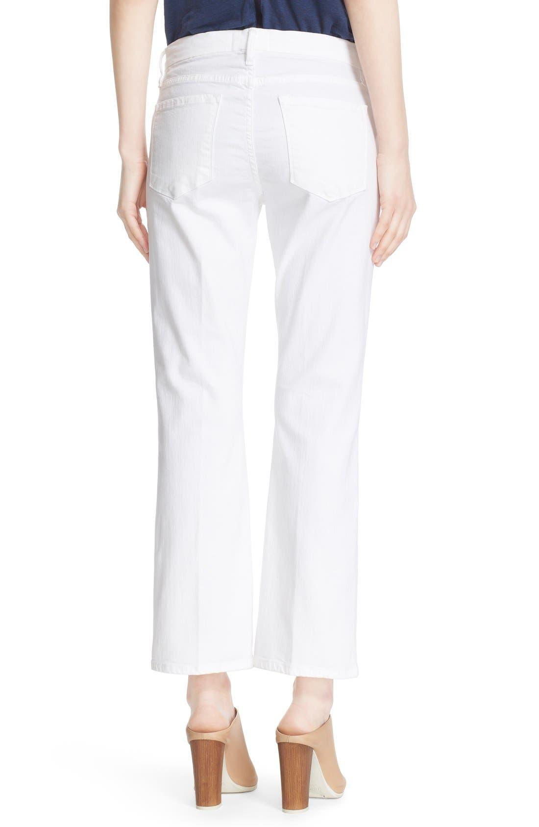 Alternate Image 2  - FRAME 'Le Crop Mini Boot' Crop Jeans (Blanc)