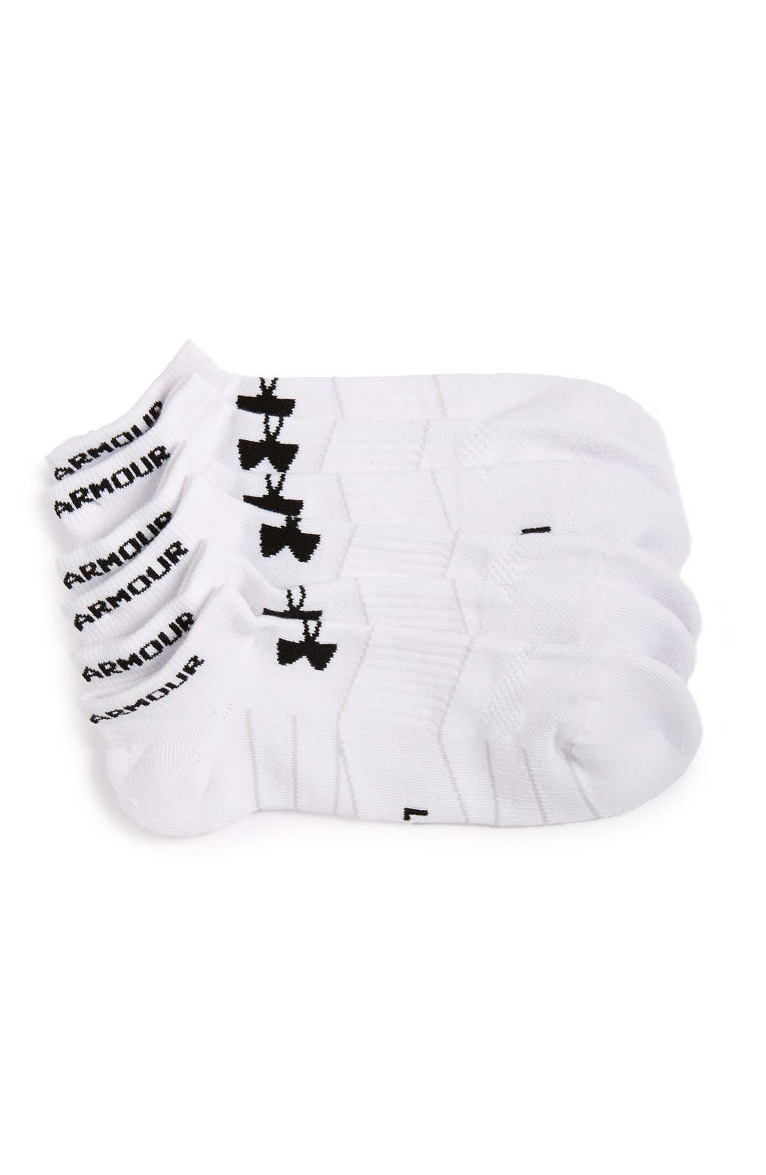 Under Armour Elevated Performance 3-Pack No-Show Socks
