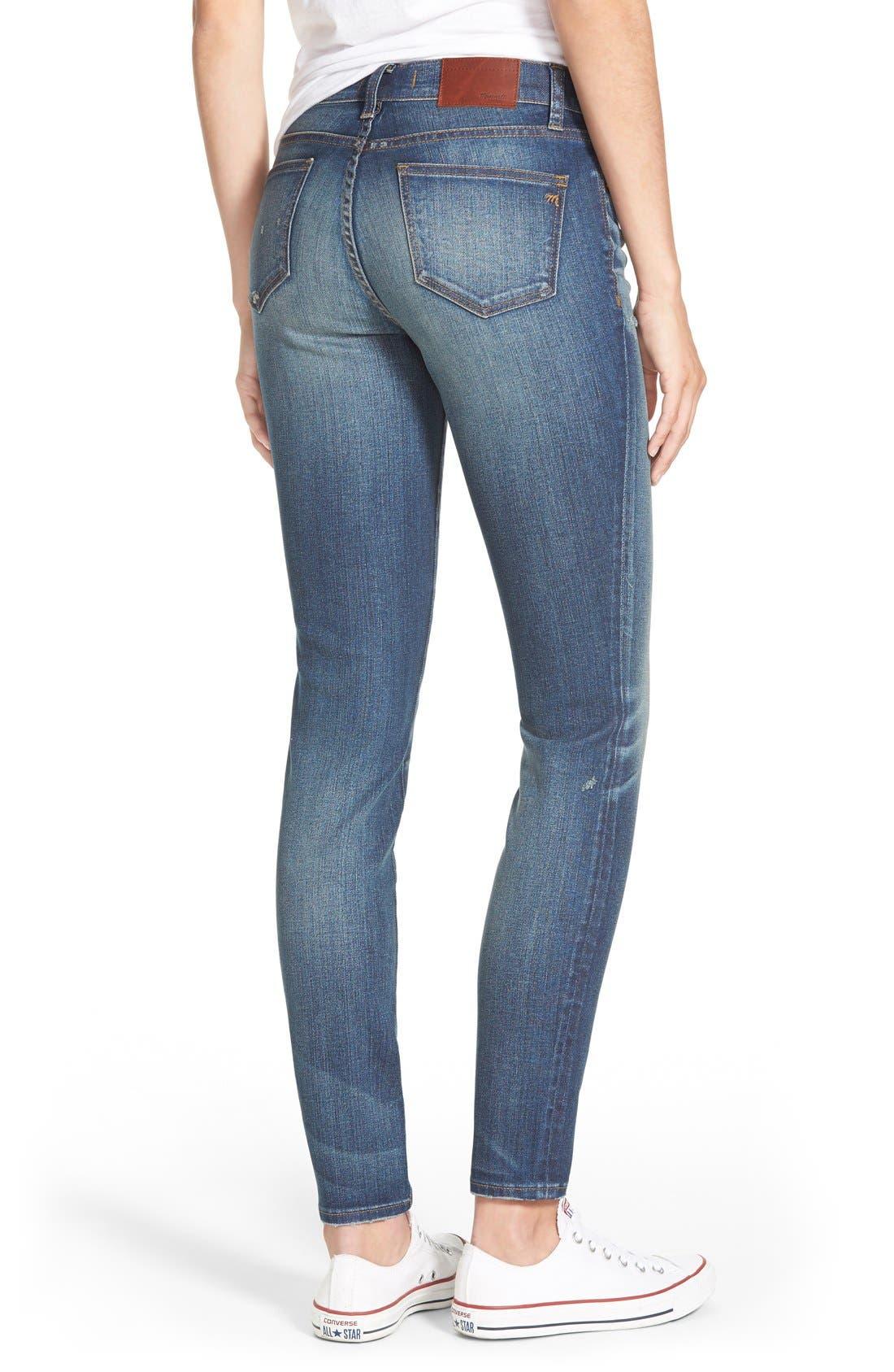 Alternate Image 2  - Madewell 'Skinny Skinny - Taller' Jeans (Edmonton Wash) (Long)