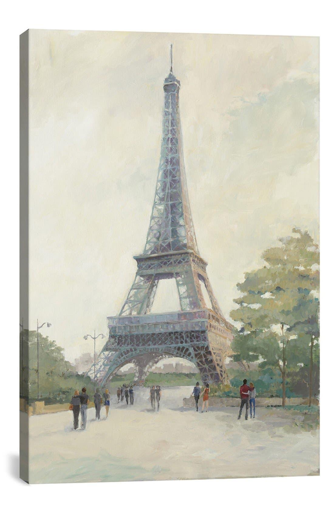 Main Image - iCanvas 'Evening in Paris - Eiffel Tower' Giclée Print Canvas Art