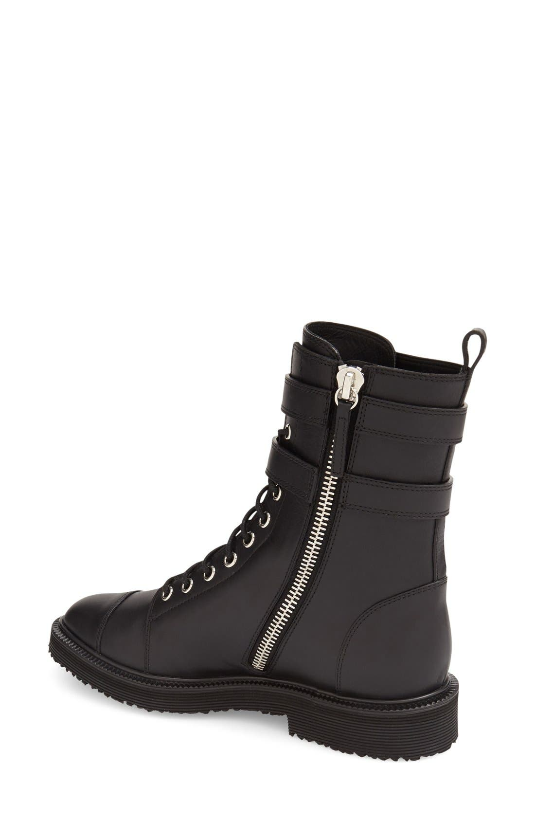 Alternate Image 2  - Giuseppe Zanotti 'Hilary' Military Boot (Women)