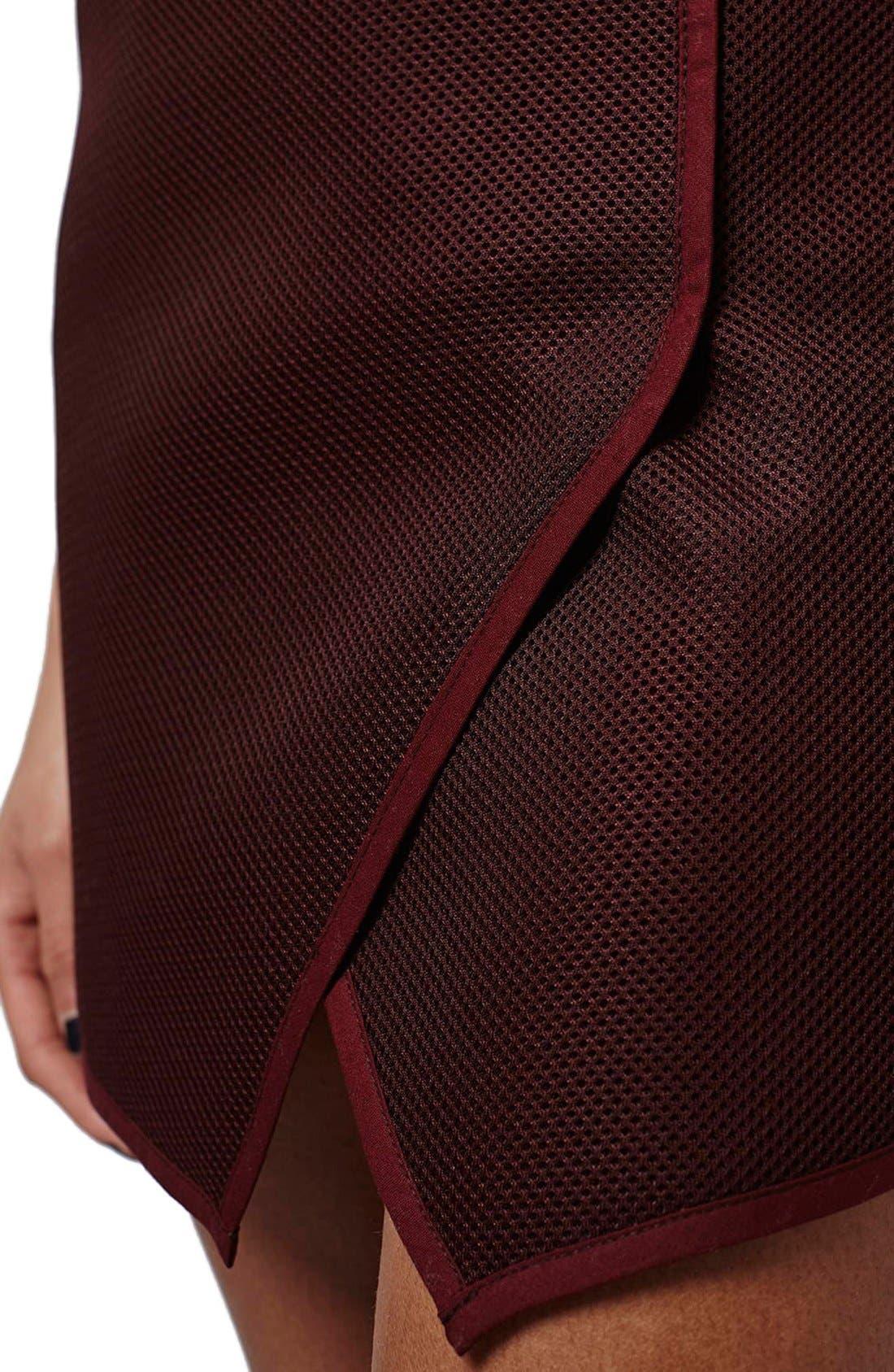 Alternate Image 5  - Topshop Angled Wrap Airtex Miniskirt