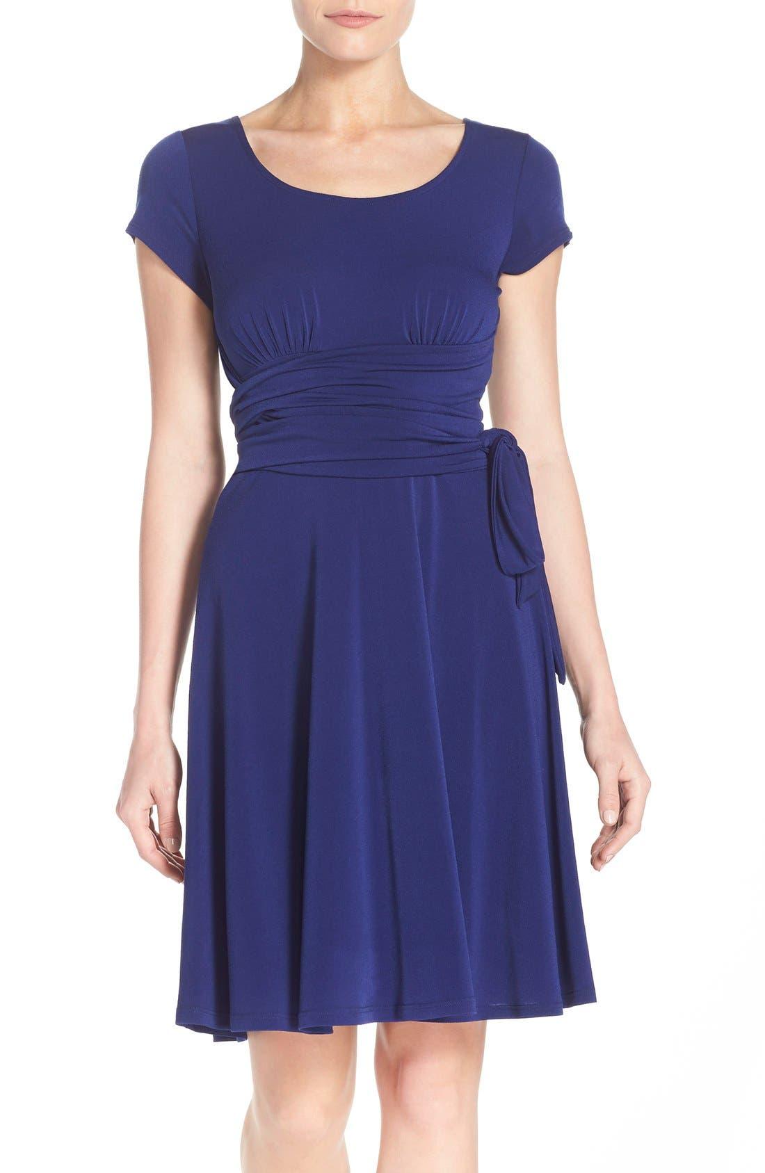 Leota Scoop Neck Jersey Fit & Flare Dress