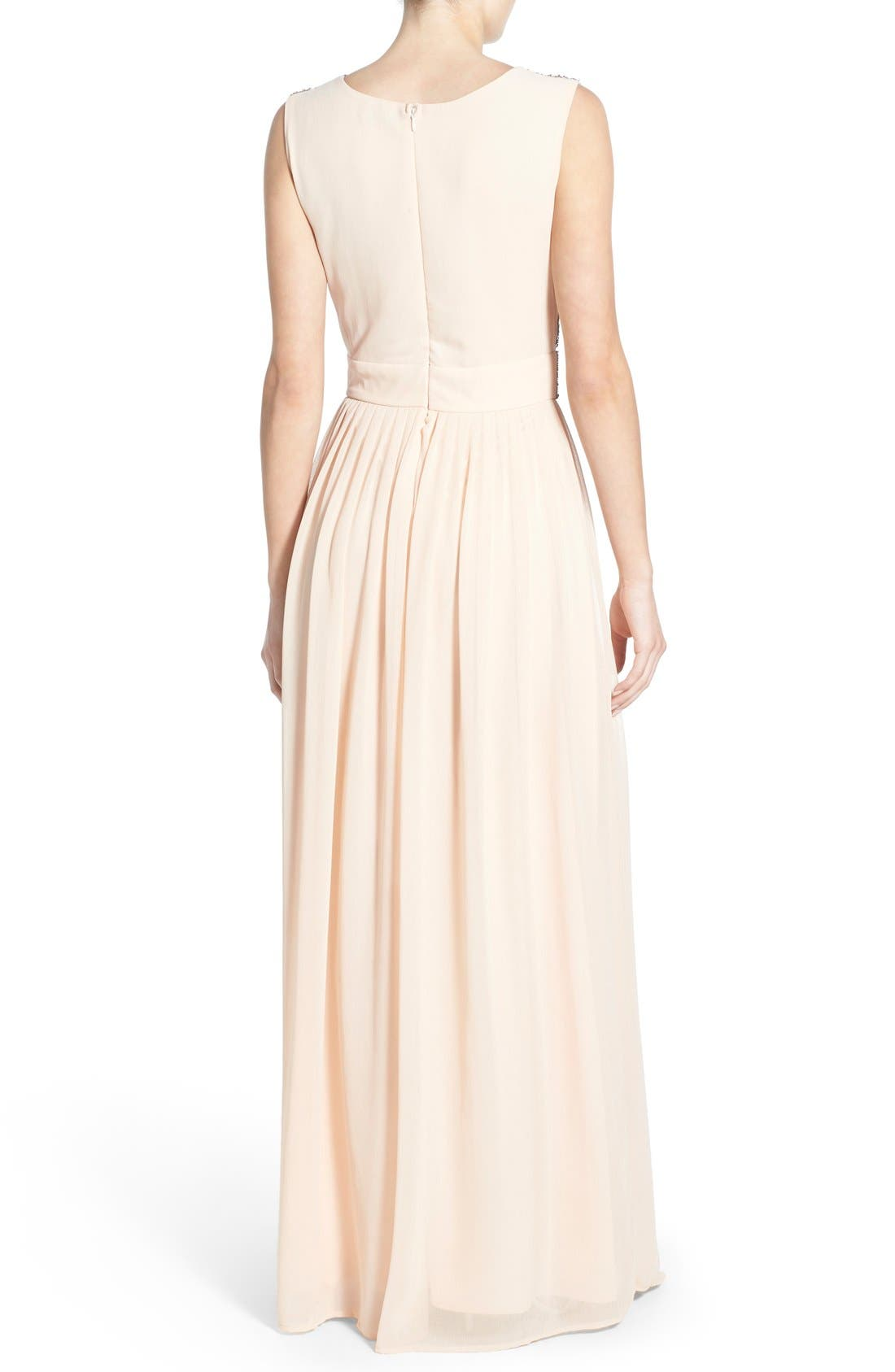 Alternate Image 2  - Lace & Beads 'Tina' Embellished Maxi Dress