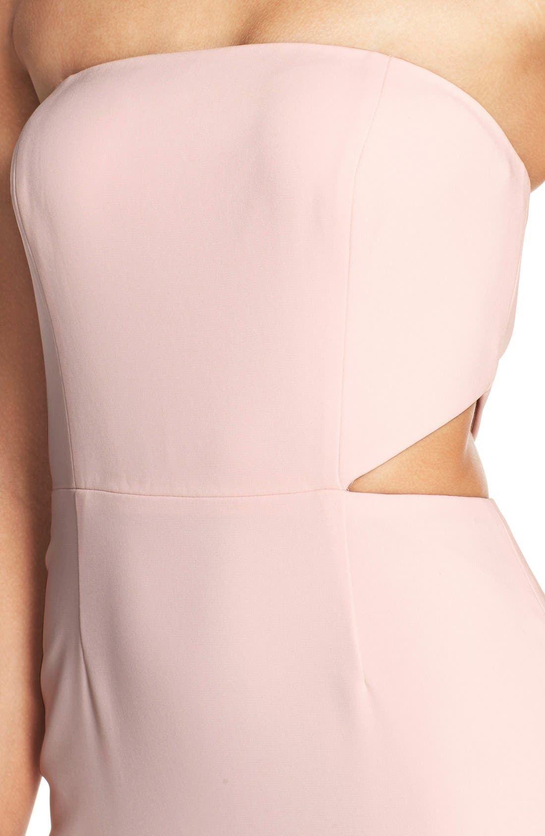 Alternate Image 4  - Jay Godfrey Strapless Cutout Gown