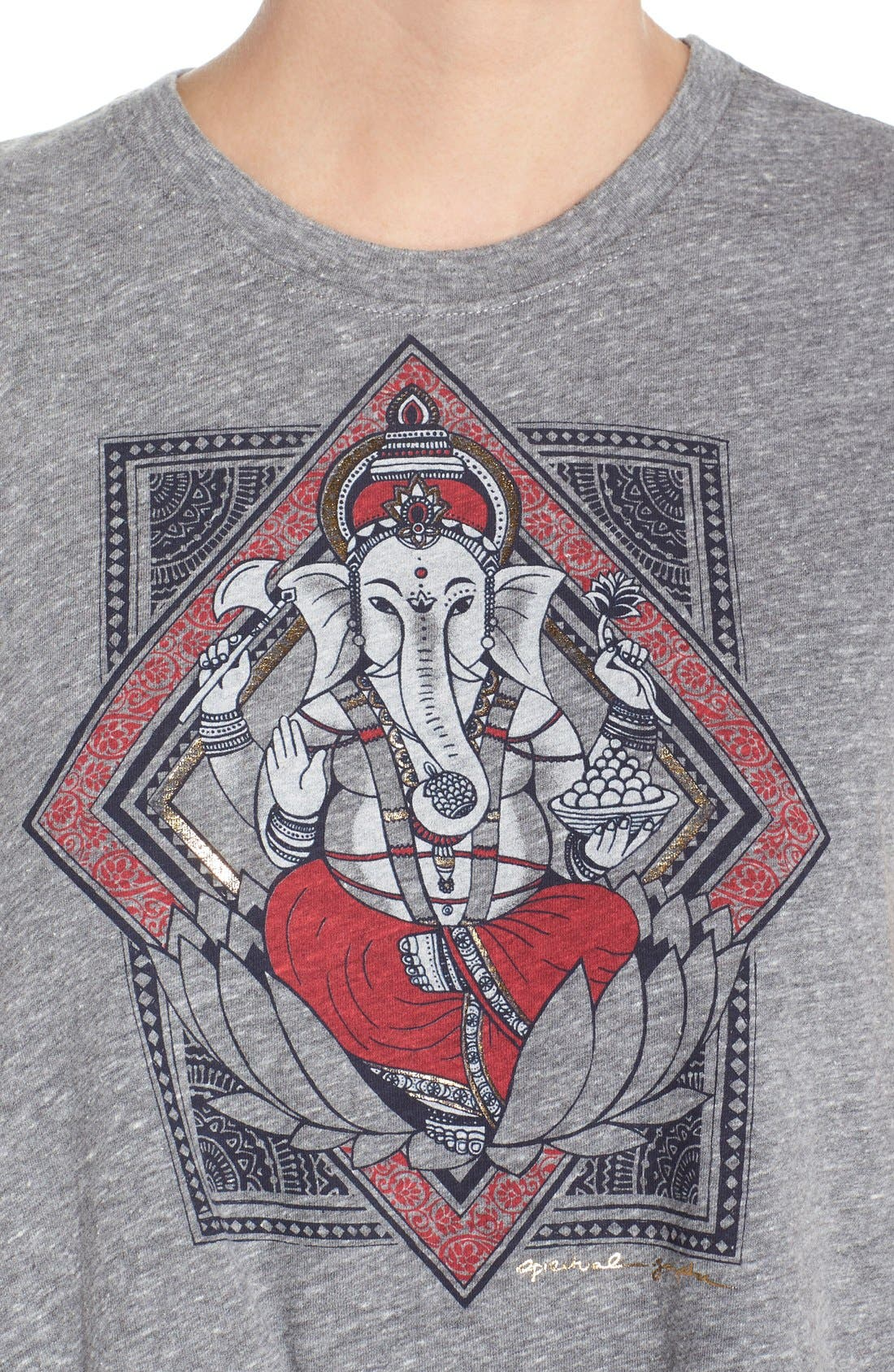 Alternate Image 4  - Spiritual Gangster 'Ganesh Lotus' Crop Muscle Tee