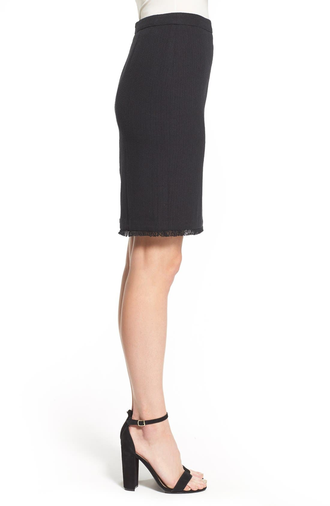 Alternate Image 4  - Halogen® Novelty Tweed Pencil Skirt (Regular & Petite)