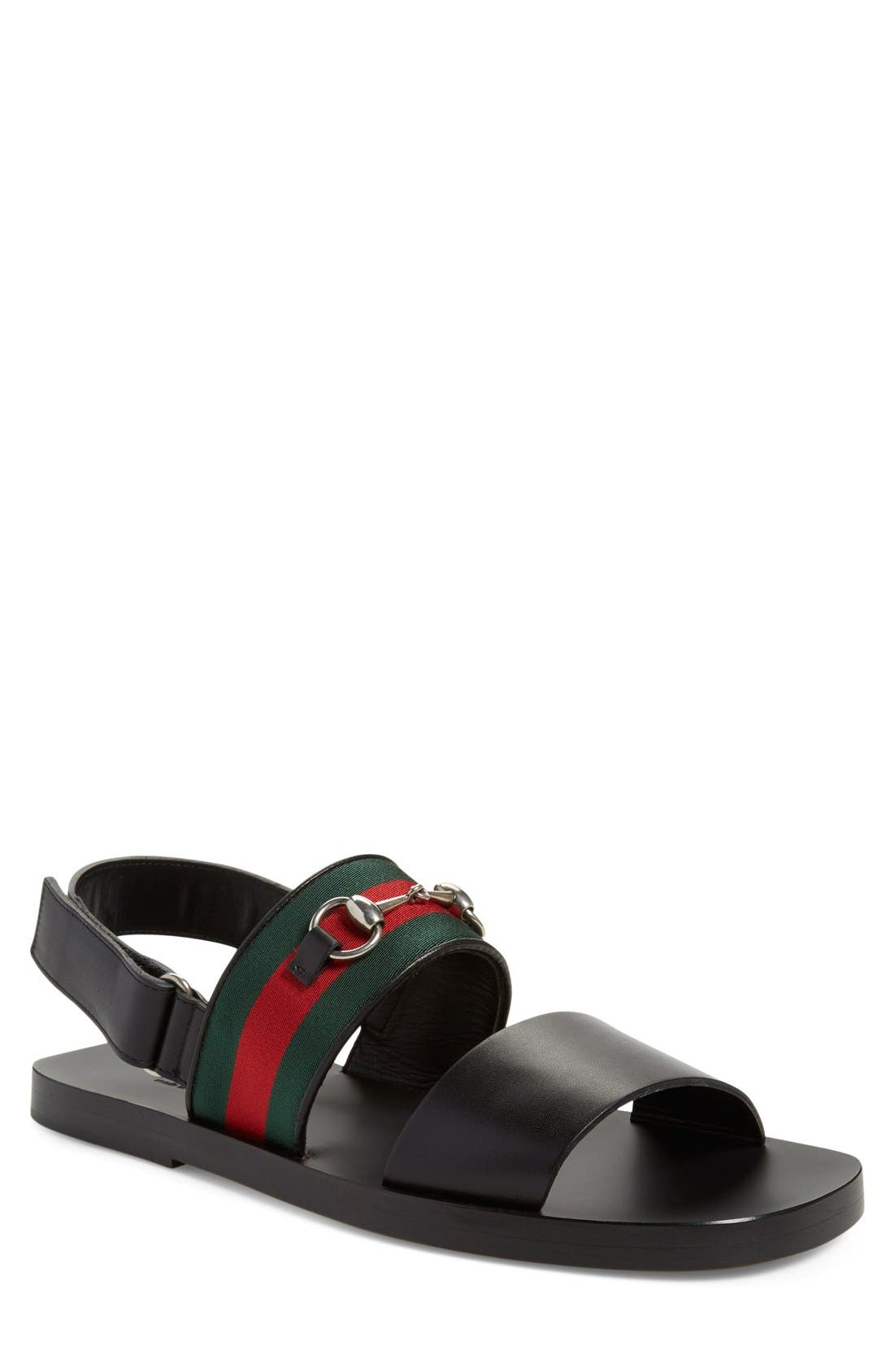 Alternate Image 1 Selected - Gucci 'Twelve Strap' Sandal (Men)