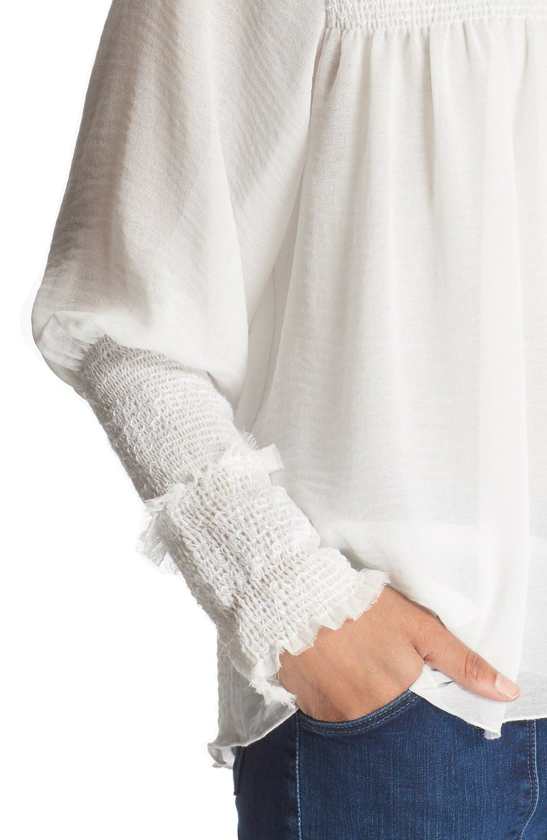 Alternate Image 4  - See by Chloé Smocked High Neck Blouse