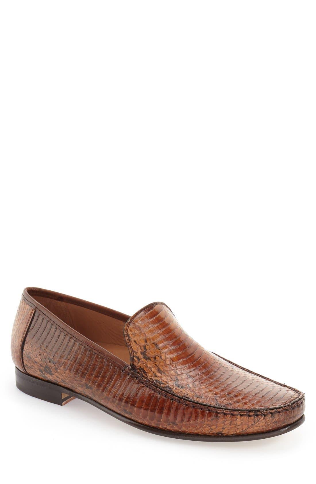 MEZLAN 'Dali' Genuine Snakeskin Venetian Loafer