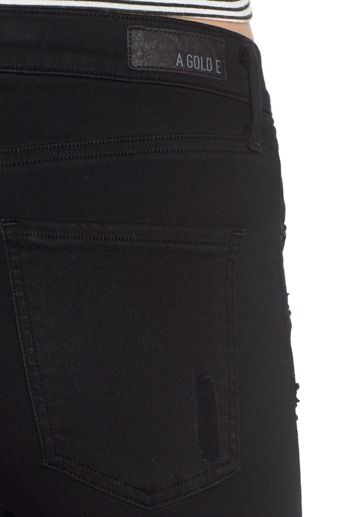Alternate Image 4  - AGOLDE Sophie High Waist Skinny Jeans (Moon Struck)
