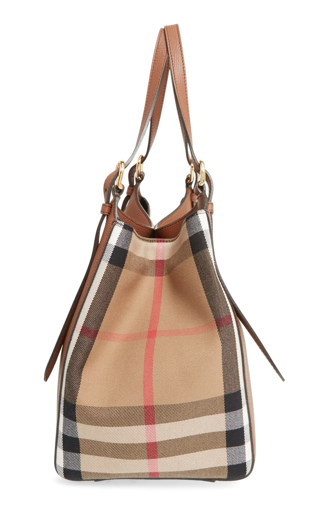 Alternate Image 5  - Burberry 'Canterbury' House Check & Leather Tote