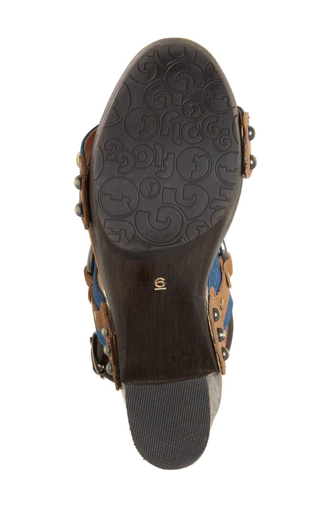 Alternate Image 4  - Flogg 'Entrada' Stud Harness Platform Sandal (Women)