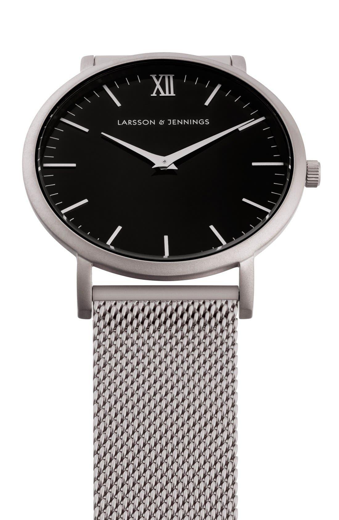 Alternate Image 4  - Larsson & Jennings Lugano Mesh Strap Watch, 40mm
