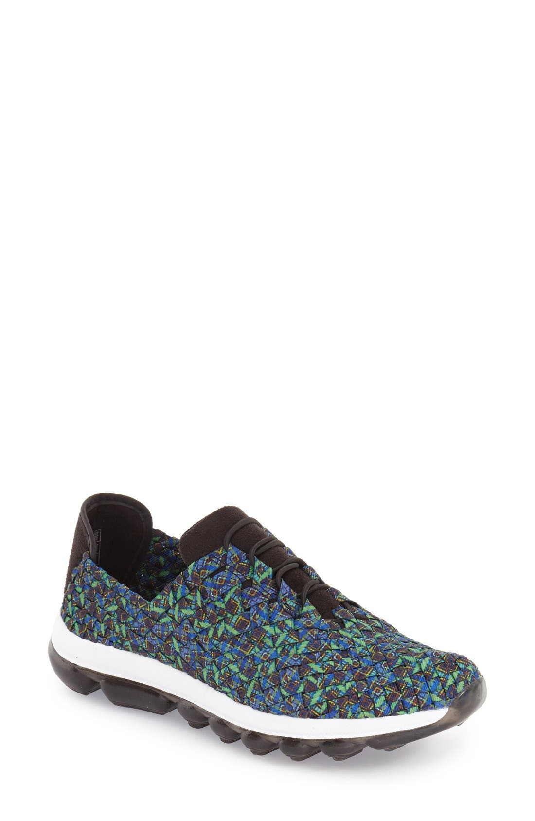 BERNIE MEV. 'Gummies Victoria' Stretch Woven Slip-On Sneaker