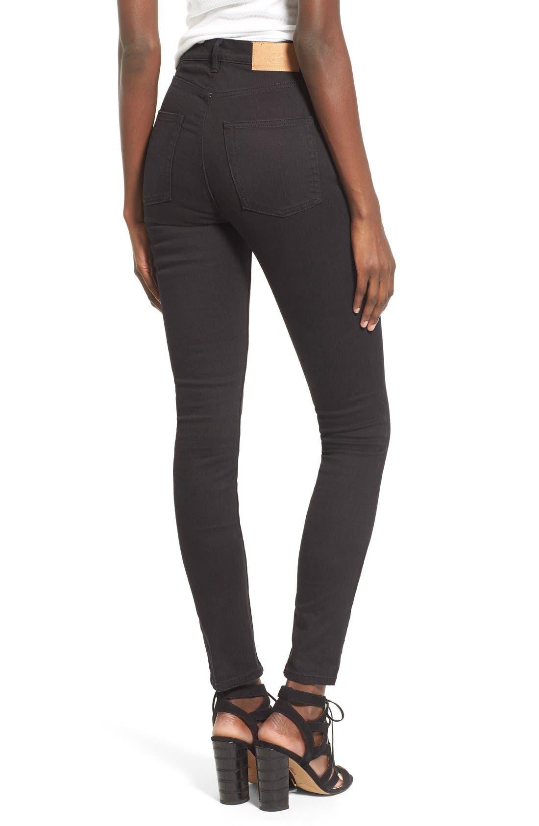 Alternate Image 2  - Cheap Monday High Rise Skinny Jeans (New Black)