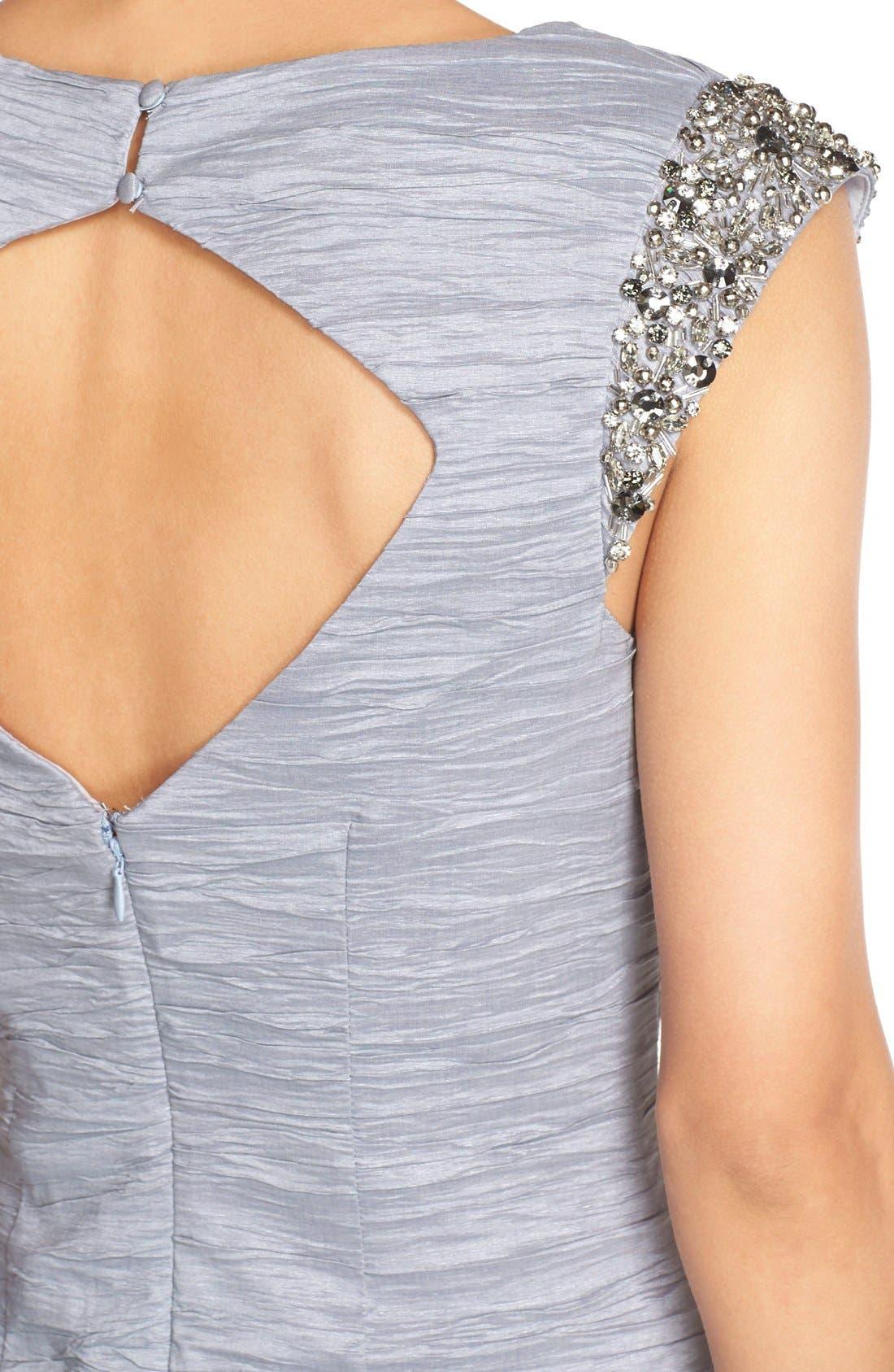 Alternate Image 4  - Eliza J Embellished Taffeta Sheath Dress
