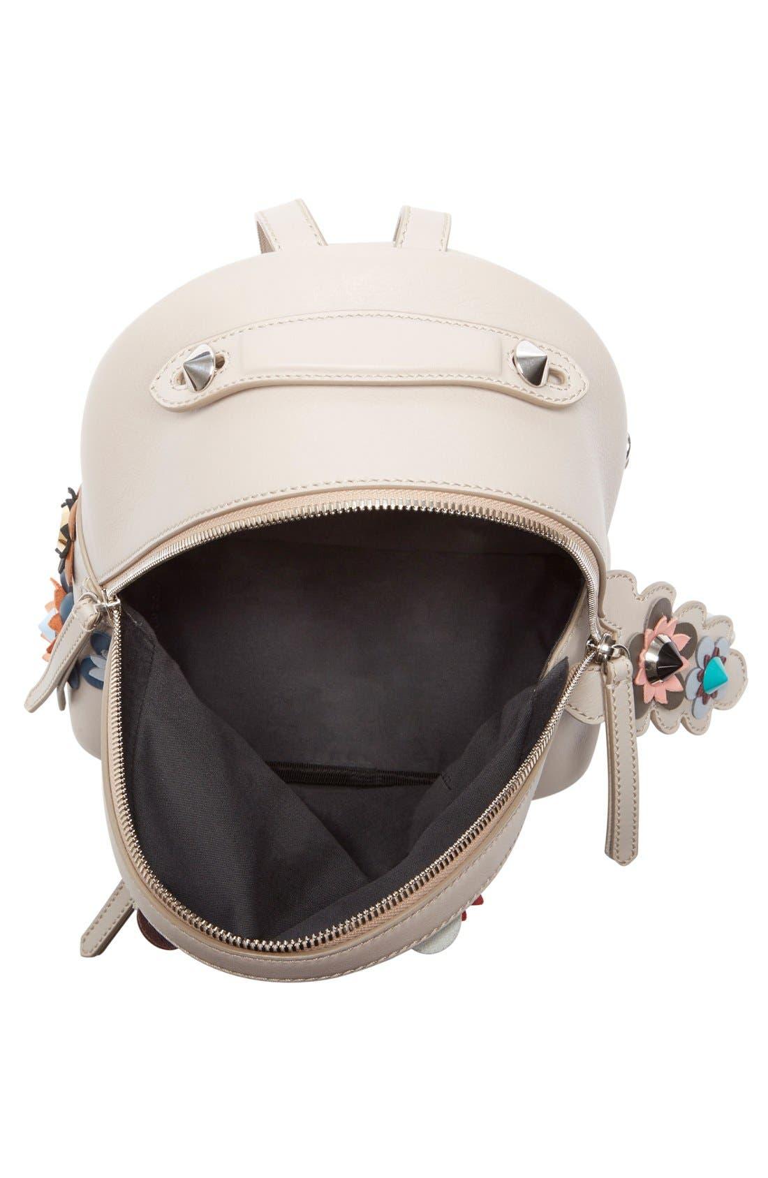 Alternate Image 3  - Fendi Floral Appliqué Leather Mini Backpack