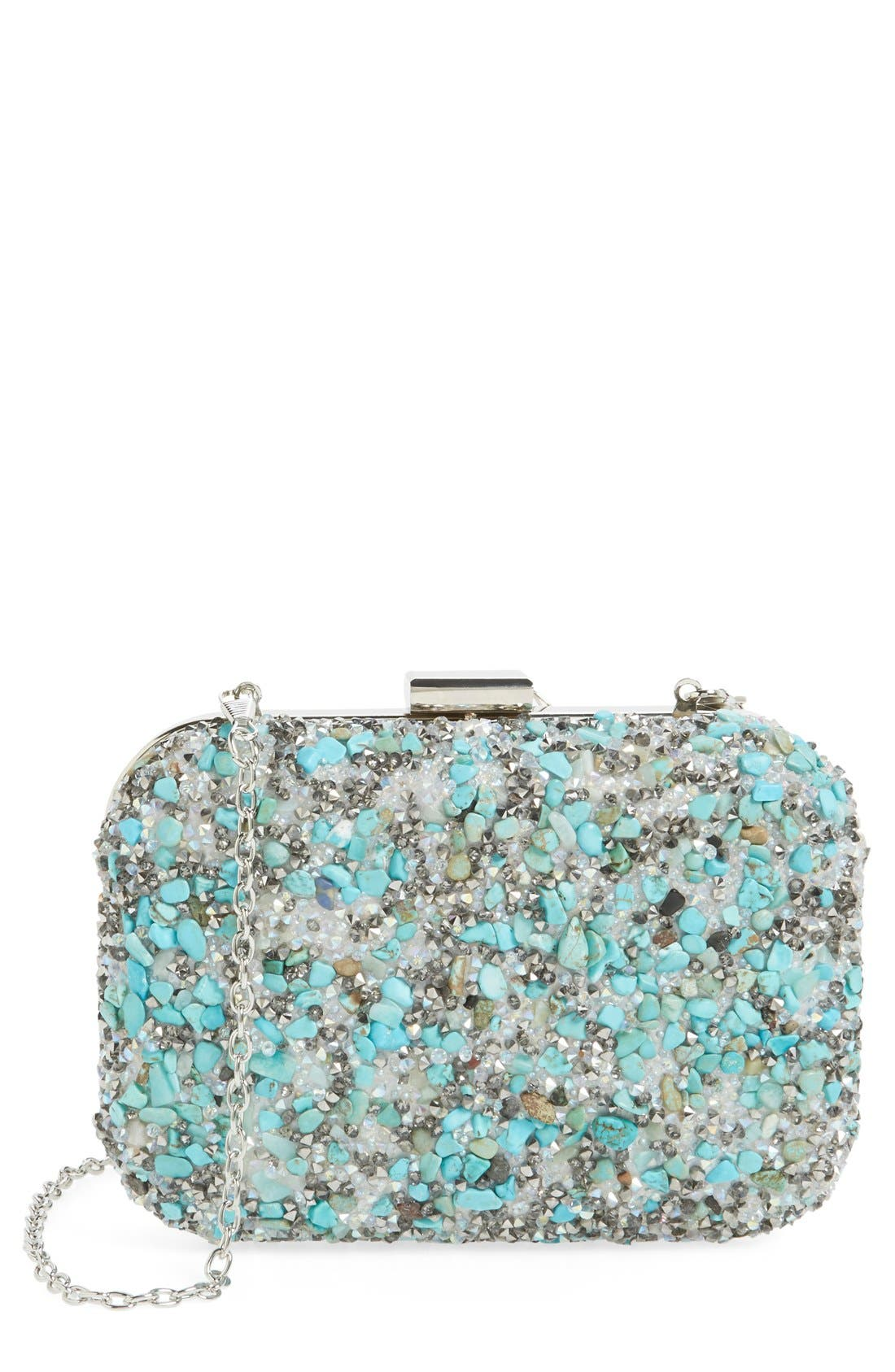 Alternate Image 1 Selected - Natasha Couture Stone & Crystal Clutch