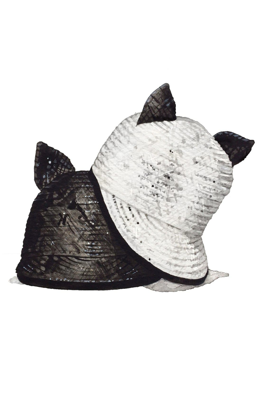 Alternate Image 2  - Helene Berman 'Contrast Cat' Baseball Cap