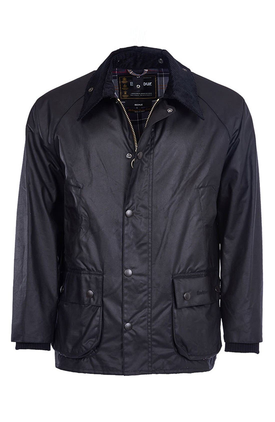 Alternate Image 4  - Barbour 'Bedale' Regular Fit Waxed Cotton Jacket