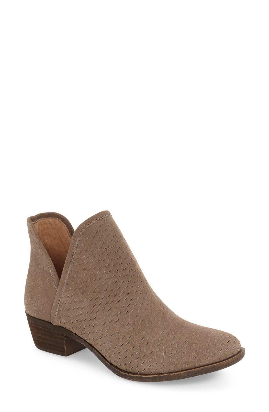 Alternate Image 1 Selected - Lucky Brand 'Bashina' Perforated Bootie (Women)