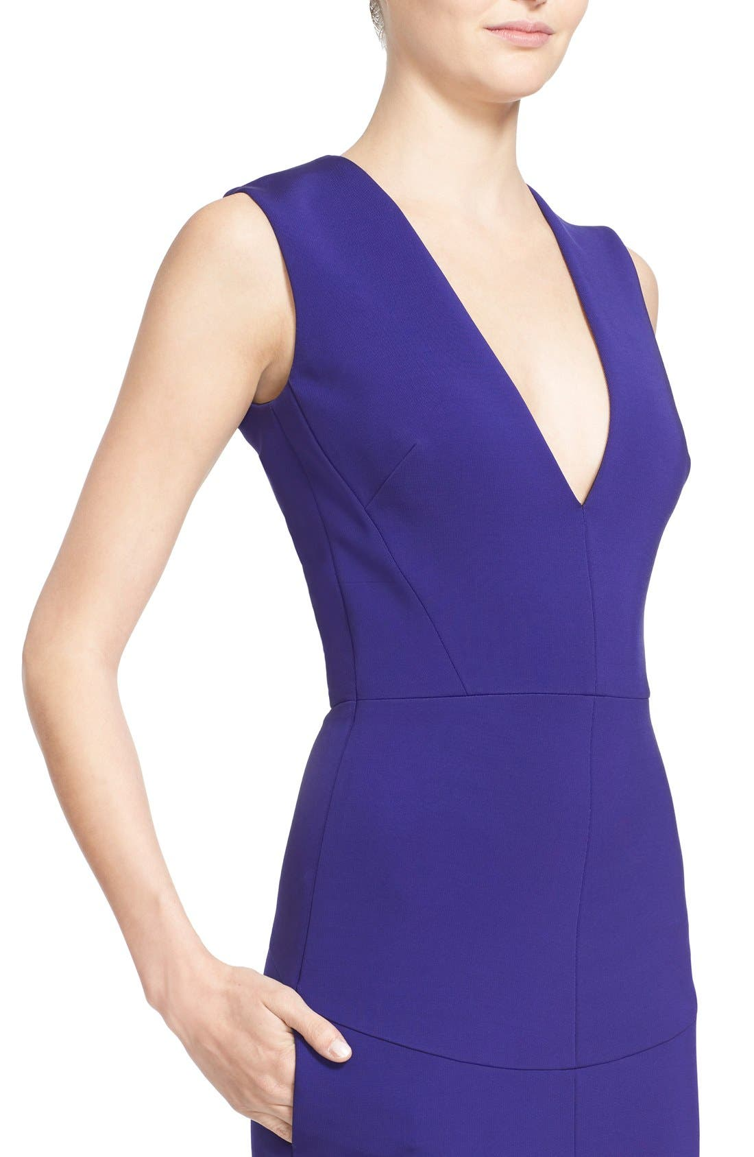 Alternate Image 5  - Victoria Beckham Plunging V-Neck Sheath Dress