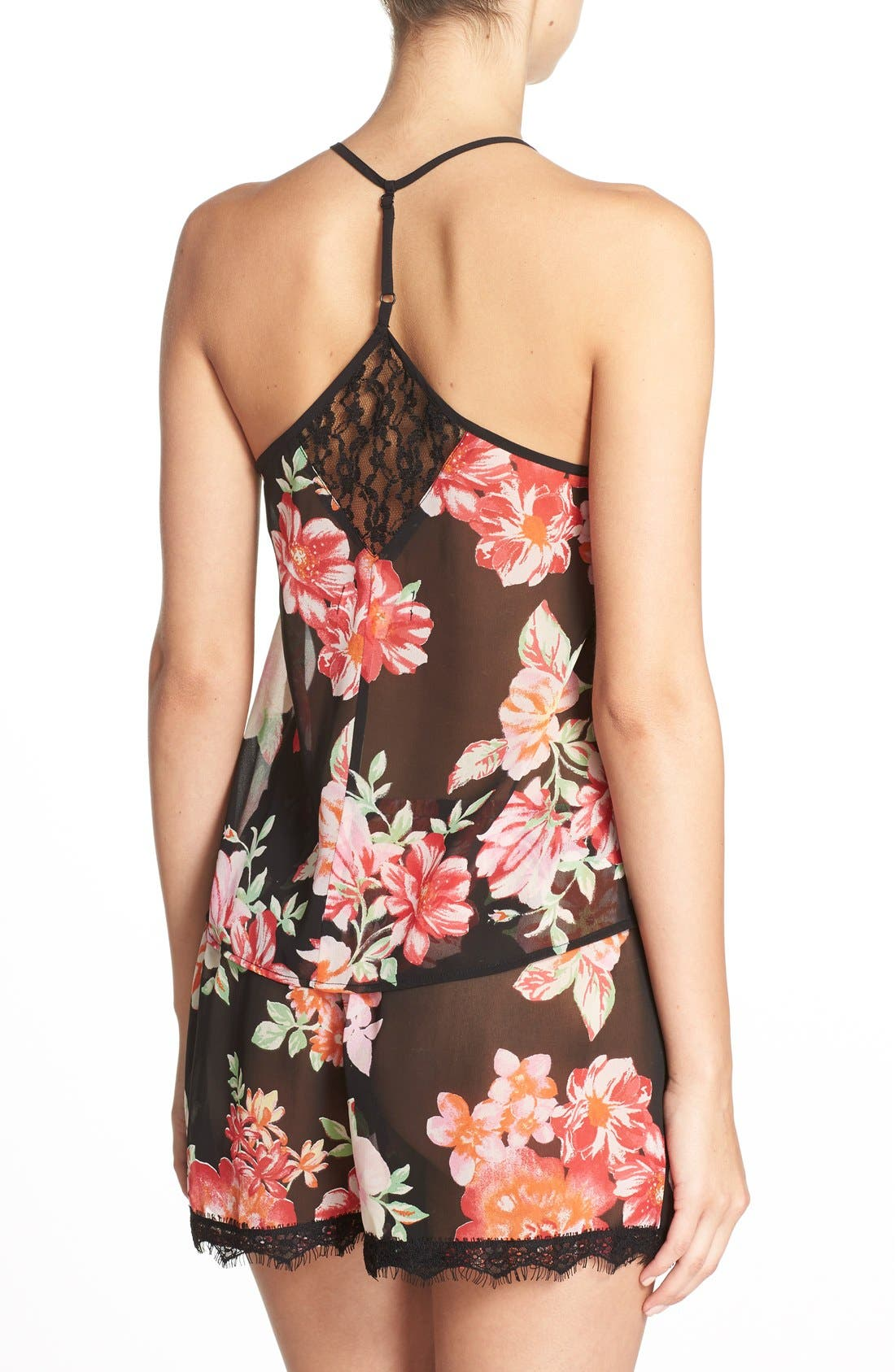 Alternate Image 2  - Band of Gypsies Racerback Floral Chiffon Camisole
