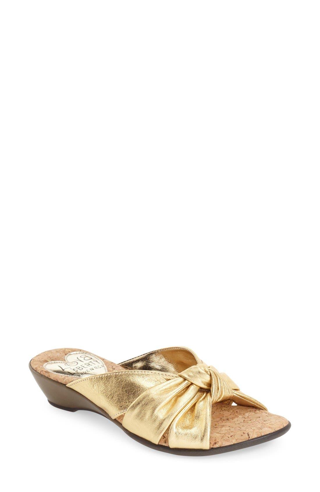 LOVE AND LIBERTY 'Janet' Slide Sandal
