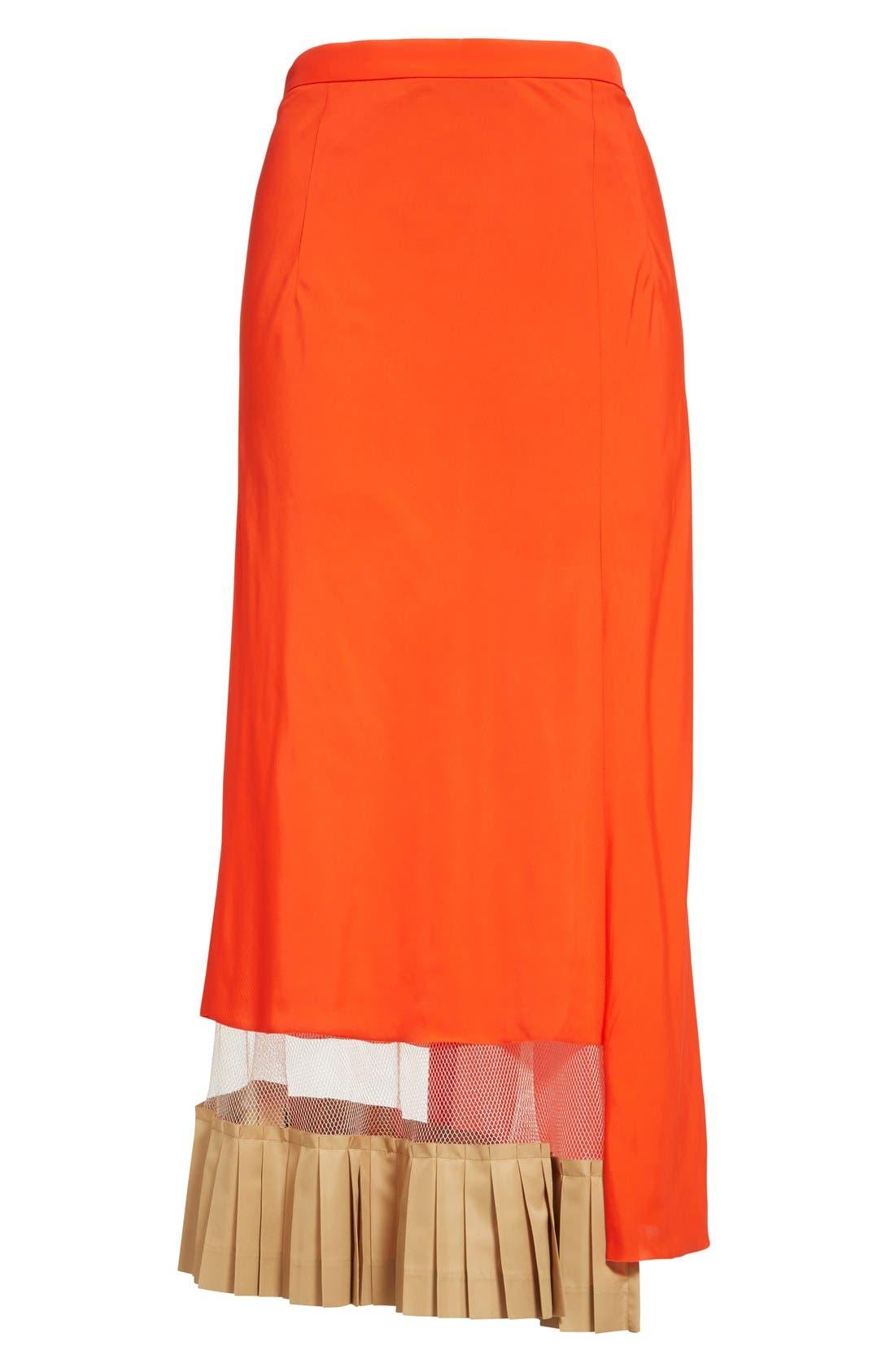 Alternate Image 4  - TOGA Asymmetrical Illusion Hem Skirt