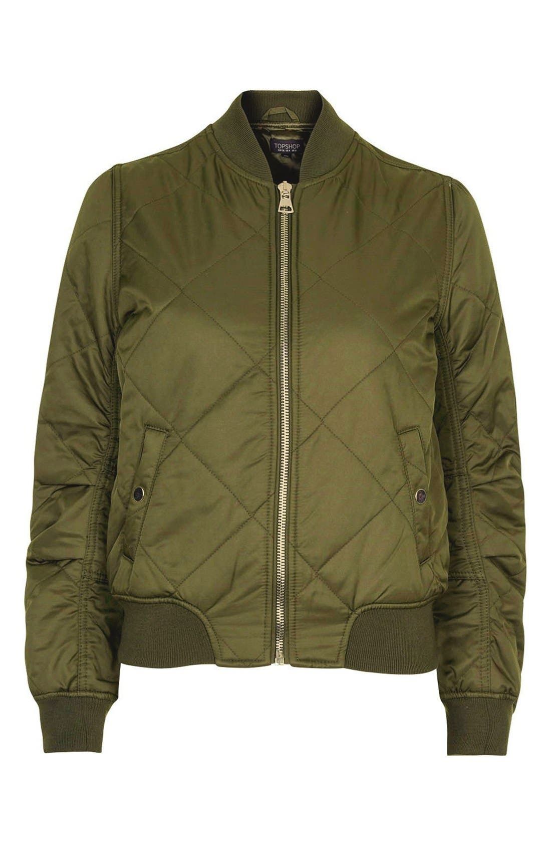 Alternate Image 4  - Topshop 'MA1 Bruce' Quilted Bomber Jacket