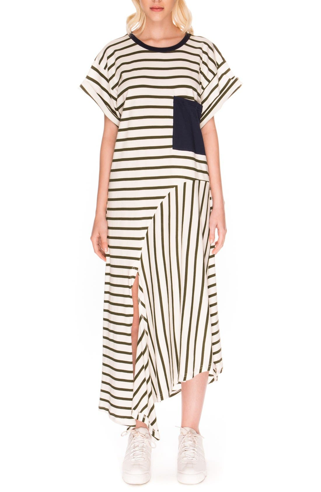 Main Image - The Fifth Label 'On Your Mark' Stripe T-Shirt Dress