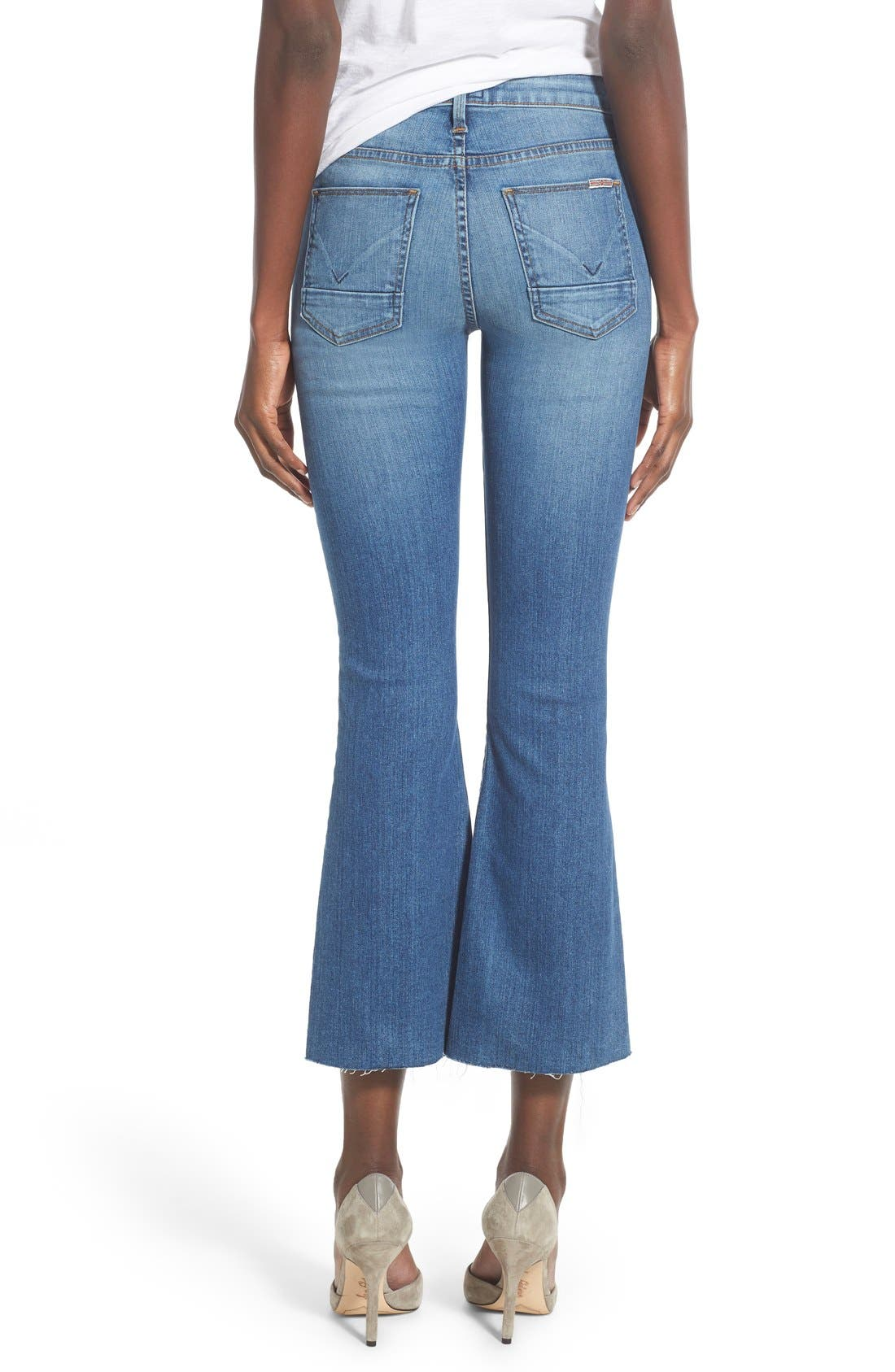 Alternate Image 2  - Hudson Jeans 'Mia' Raw Hem Crop Flare Jeans (Carve)