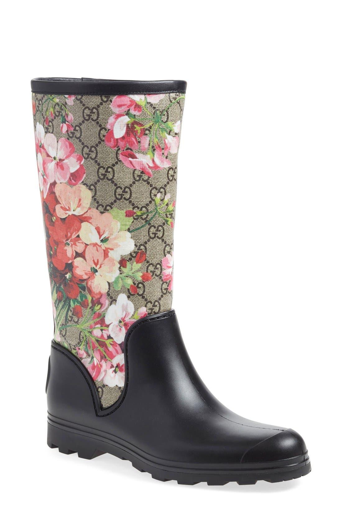GUCCI 'Prato - GG Blooms' Rain Boot
