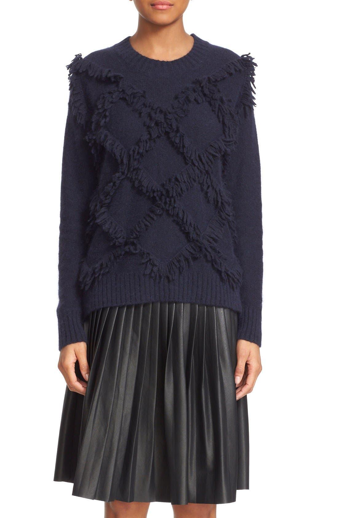Alternate Image 1 Selected - Rebecca Taylor Fringe Pullover Sweater